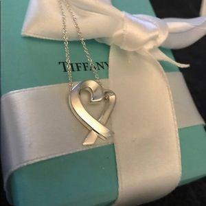 Tiffany Paloma Picasso Loving Heart Necklace